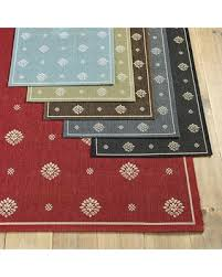 Suzanne Kasler Quatrefoil Border Indoor Outdoor Rug Slash Prices On Ballard Designs Navarre Indoor Outdoor Rug Gray 2