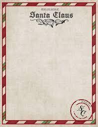 official letters from santa free printable santa paper christmas printables