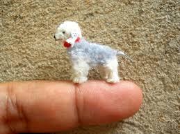 bedlington terrier stud bedlington terrier tiny crochet miniature dog stuffed