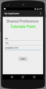 android sharedpreferences exle android shared preferences