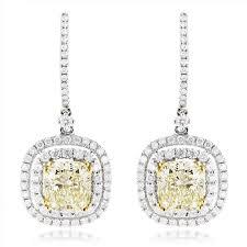 ear rings diamonds images Dangling designer diamond drop earrings 6 5ct 18k gold yellow diamonds jpg