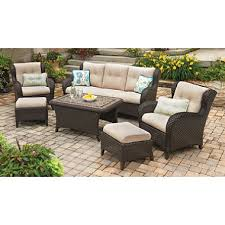 6 Seat Patio Table And Chairs Member S Heritage 6 Seating Set With Premium