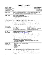 Recent Graduate Resume Cover Letter Engineering Graduate Resume Engineering Graduate