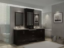 double sink vanity with middle tower bathroom vanity photos of storage with hutch ariel sinks kitchen