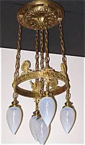 Art Nouveau Chandelier Antiques Com Classifieds Antiques Antique Lamps And Lighting