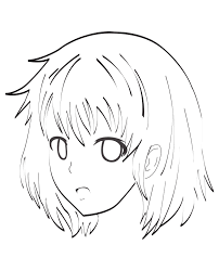manga character face by celine céline coloring pages for