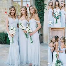beach bridesmaid dresses 2017 ice blue chiffon ruched off the