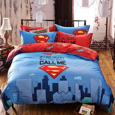 100 cotton 3 4pcs superman cartoon boy kids bedding set bed