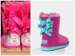 ugg sale pink ugg boots for with bows 2015 2016 diamonds photo