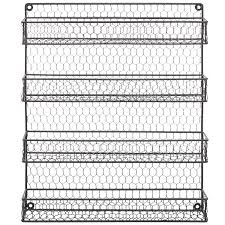 amazon com 4 tier gray country rustic chicken wire pantry