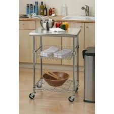 Seville Classics Stainless Steel Kitchen Cart With ShelfSHEB - Kitchen cart table