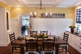 Wainscoting Dining Room Nantucket In So Cal Beach Style Dining Room Los Angeles By