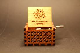 Engravable Music Box Engraved Wooden Music Box La Primavera Spring