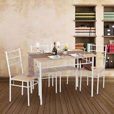 Beech Kitchen Table by 5pcs Dining Table And 4 Chairs Home Tables Seat Kitchen Set
