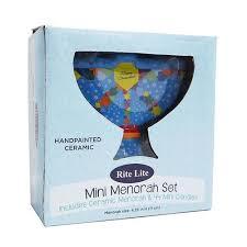 ceramic menorah 4 25 painted colorful ceramic chanukah hanukkah menorah with