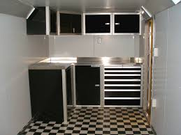 Trailer Garage by Accessories Alluring Aluminum Cabinets Shop Metal Garage
