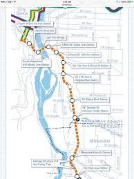 portland light rail map portland s trimet orange line opened september 2015 transit maps