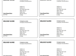 microsoft word business card template images free business cards