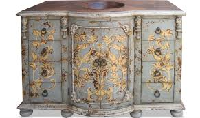 Painted Bathroom Furniture by Hand Painted Bathroom Vanity Copper Top King Lima Furniture