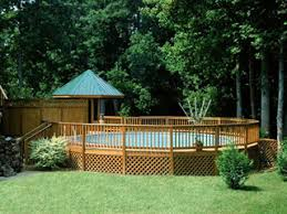 we install the highest quality above ground pools or semi inground