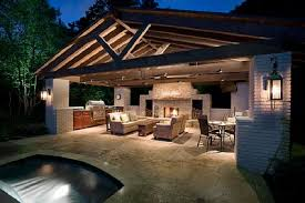 backyard kitchen ideas granite outdoor kitchen fireplace patio designs