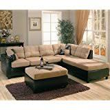 Corduroy Sectional Sofa Amazon Com Acme 55975 Connell Sectional Sofa With Pillows