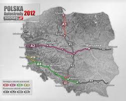 Mapa Płatnych Autostrad W Polsce W 2012 Roku