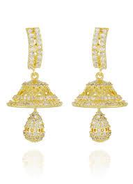 danglers earings buy gold n white dangler earrings stones danglers online