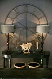 wrought iron wall planters wrought iron wall decor round clock with console table the