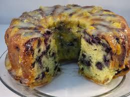blueberry yogurt pound cake with marmalade yogurt glaze with