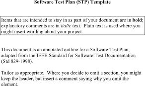 sample test plan