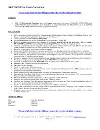 Sap Fico 2 Years Experience Resumes Cover Letter Sap Bw Resume Sample Sap Bi Testing Resume Sample