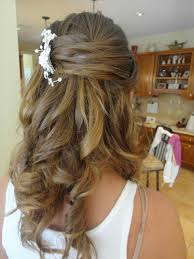 down prom formal hairstyle long hair wedding do fishtail luxy