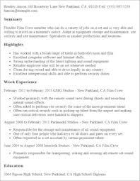 media u0026 entertainment resume templates to impress any employer