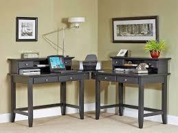 walnut corner computer desk office awesome corner desk modern solid wood construction walnut