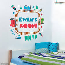 personalised track loop thomas and friends wall stickers