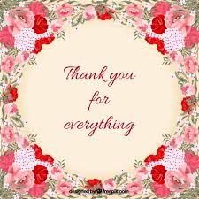 free thank you cards floral thank you card vector free