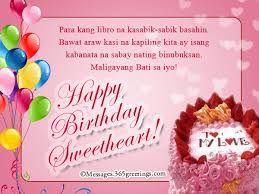tagalog birthday messages for girlfriend 365greetings com