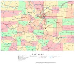 Map Of United States With Interstate Highways by Large Administrative Map Of Colorado State With Roads And Cities