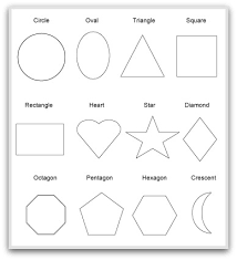 Free Printable Shapes Templates geometric shapes to print cut color and fold