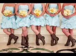 bridesmaid dresses with cowboy boots yellow bridesmaid dresses with cowboy boots