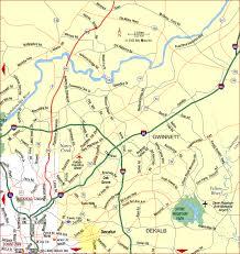 map of atlanta metro area road map of atlanta metro northeast atlanta