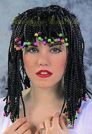 Corn Halloween Costume Corn Row Wig Braids Beads Cornrow Beaded Halloween Costume