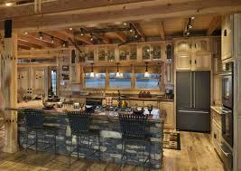 kitchen room design luxury log cabin homes interior stunning