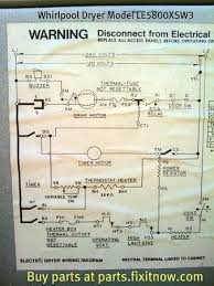 whirlpool dryer model le5800xsw3 wiring diagram fixitnow com