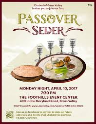 community passover seder april 10th nevada city california