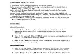 Psychology Resume Sample by Sample Clinical Psychology Cv Psychologist Resume Reentrycorps