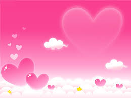 heart design for powerpoint free violet heart clouds backgrounds for powerpoint beauty ppt