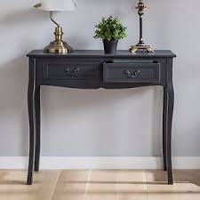 vintage console table furniture shabby chic antique charcoal grey