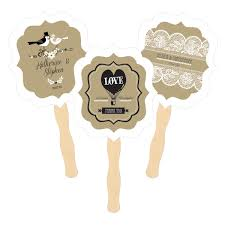 personalized fans for weddings paddle fans vintage wedding